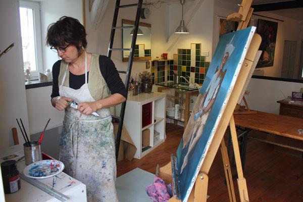 Stages De Peinture Près De Langogne Naussac En Acrylique Rocles
